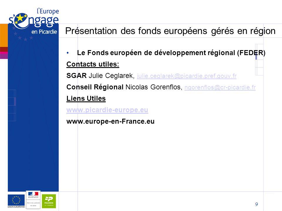 Présentation des fonds européens gérés en région