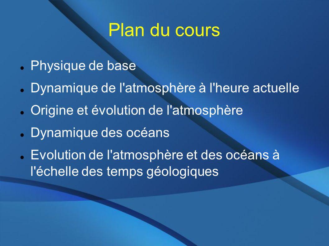 Plan du cours Physique de base