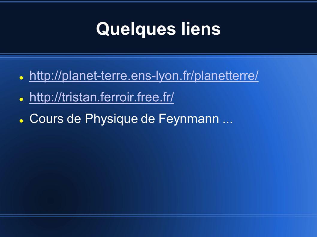 Quelques liens http://planet-terre.ens-lyon.fr/planetterre/