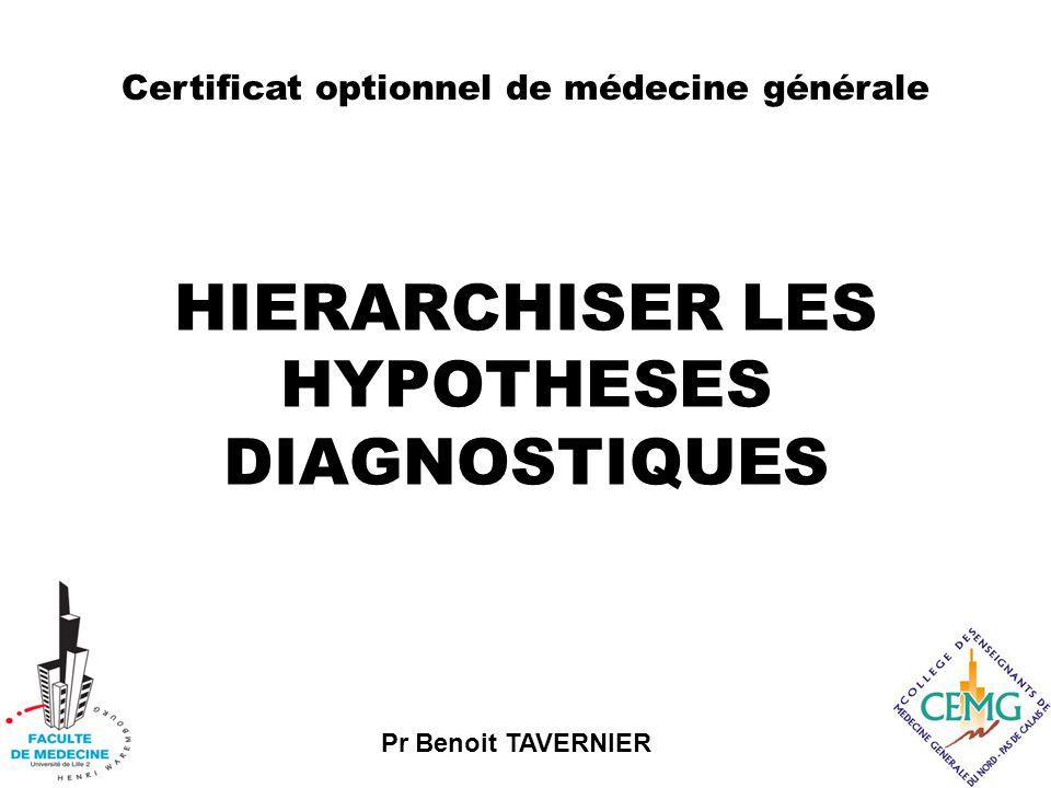 HIERARCHISER LES HYPOTHESES DIAGNOSTIQUES