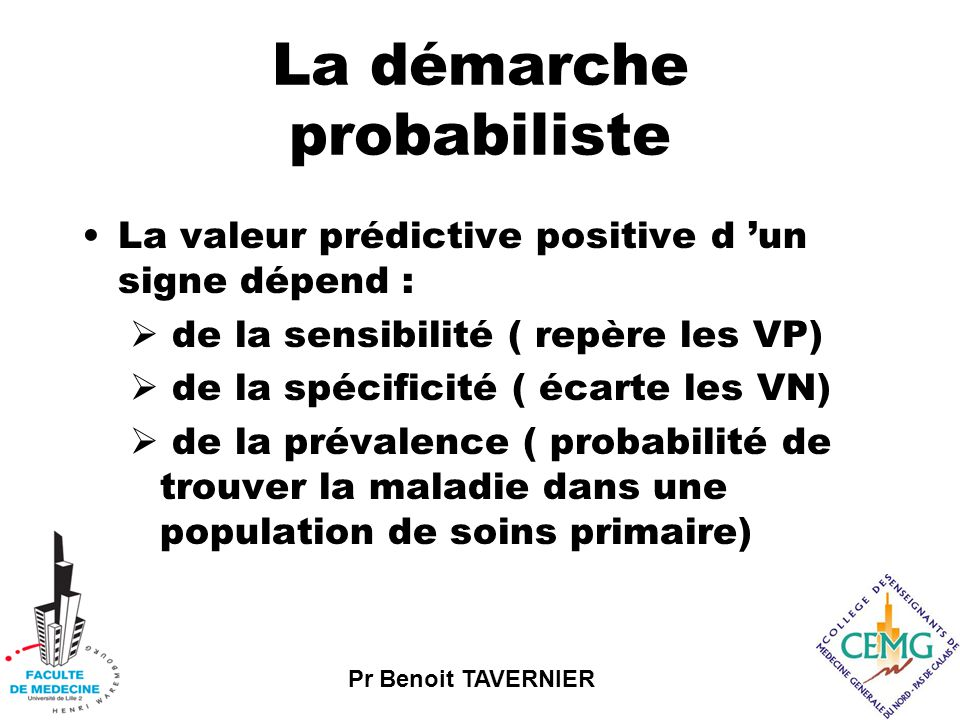 La démarche probabiliste