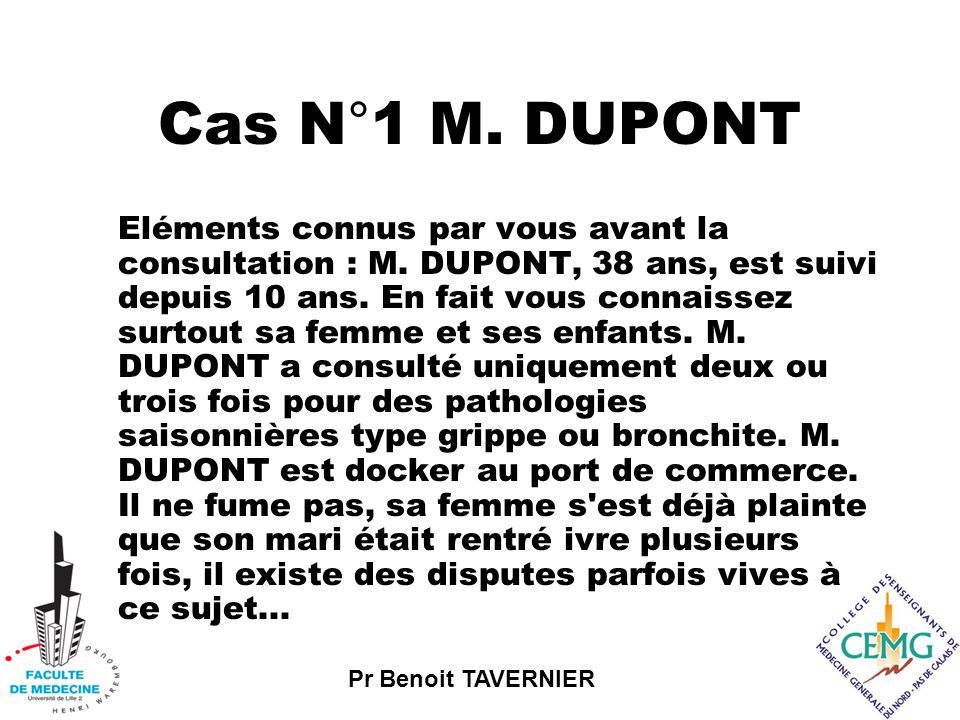 Cas N°1 M. DUPONT