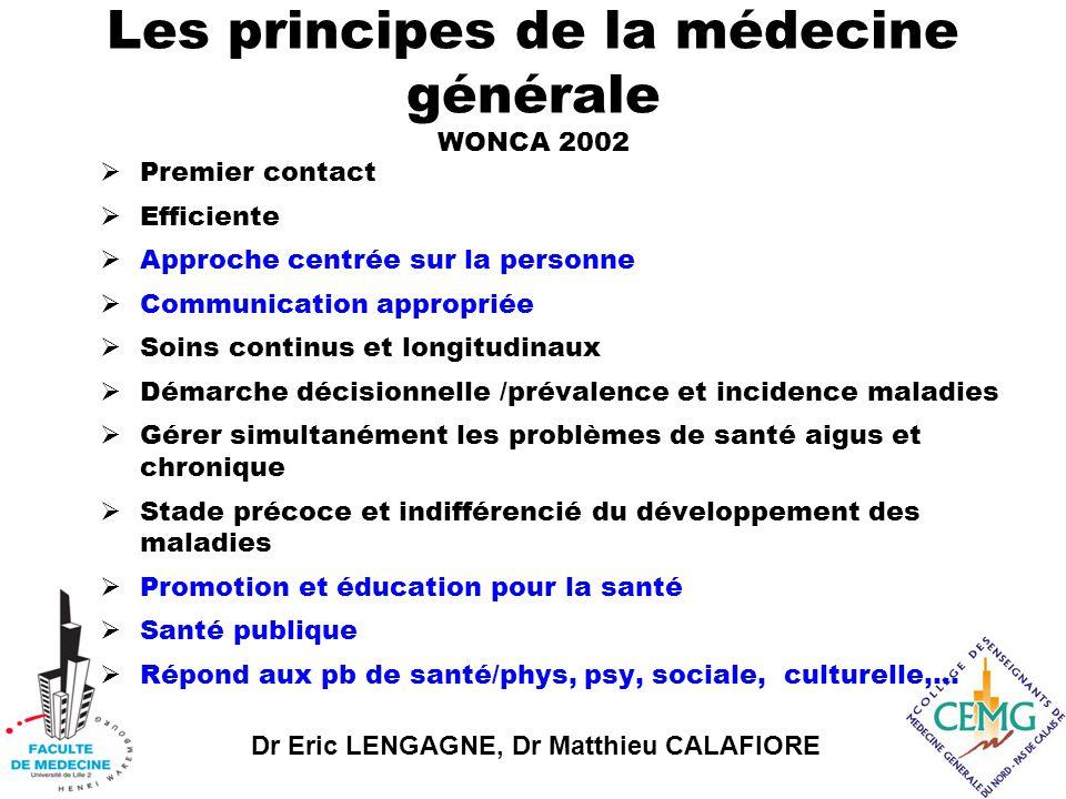 Les principes de la médecine générale WONCA 2002
