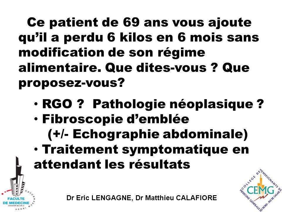 RGO Pathologie néoplasique