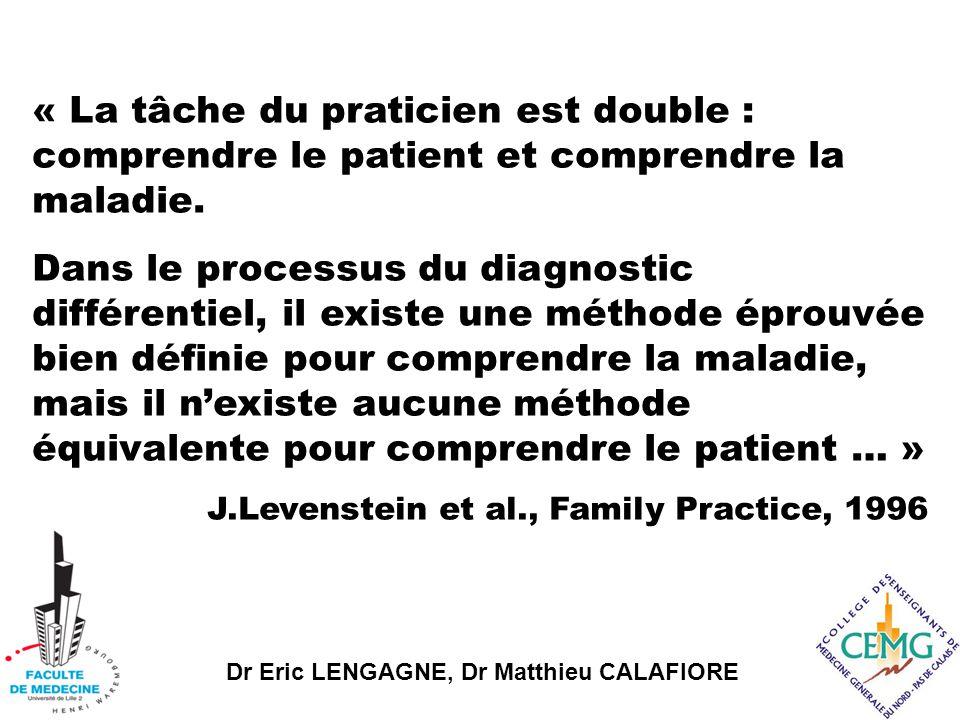 « La tâche du praticien est double : comprendre le patient et comprendre la maladie.