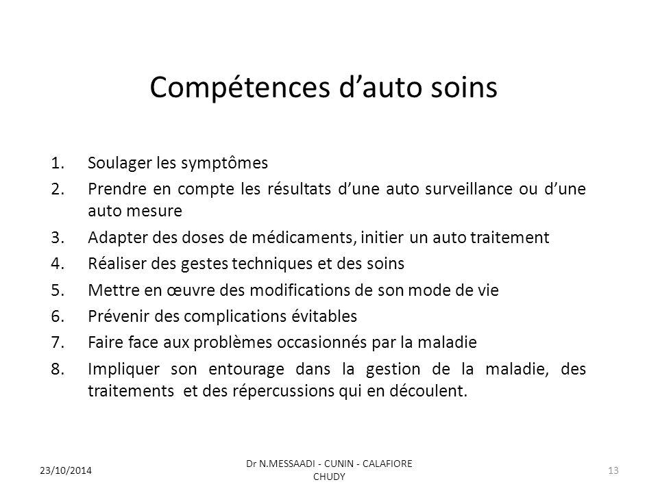 Compétences d'auto soins
