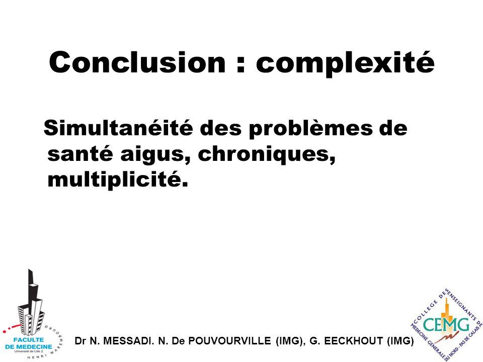 Conclusion : complexité