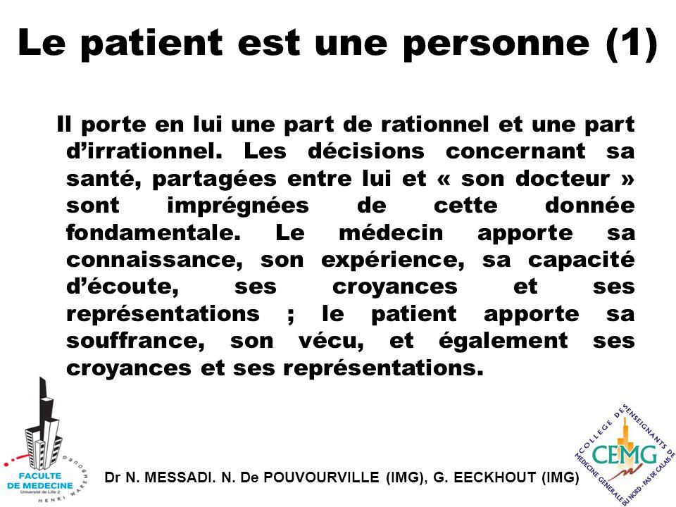 Le patient est une personne (1)