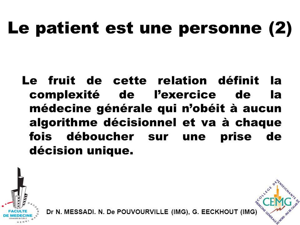 Le patient est une personne (2)