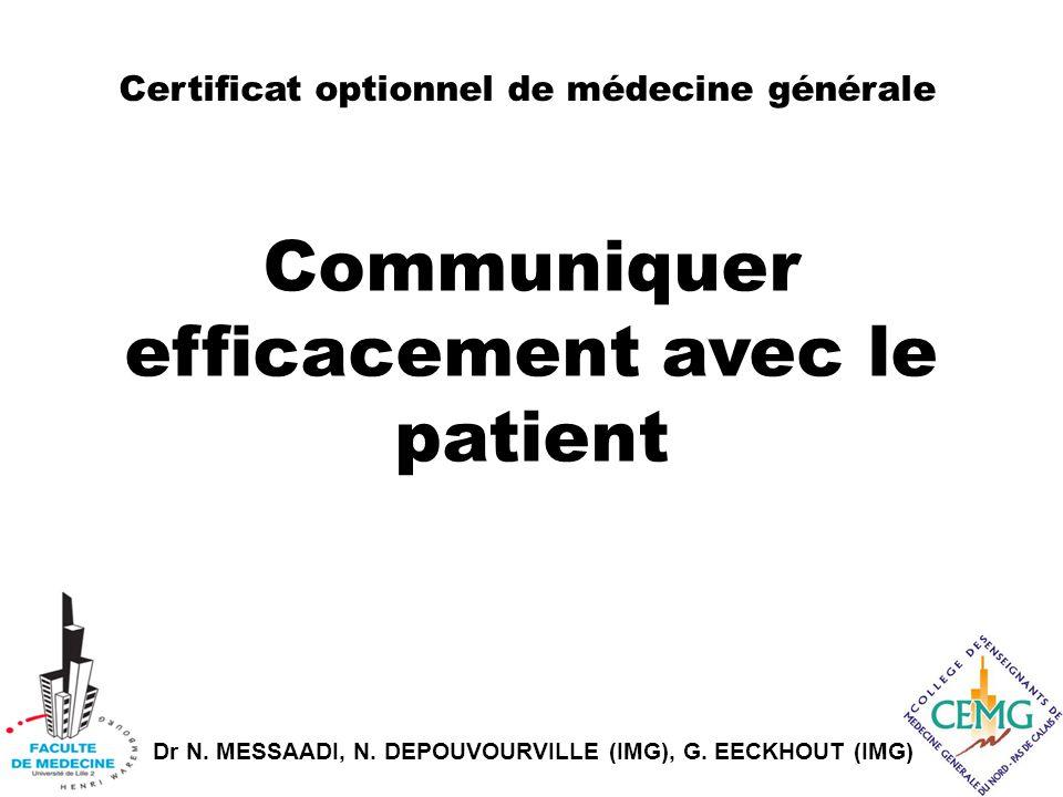 Communiquer efficacement avec le patient