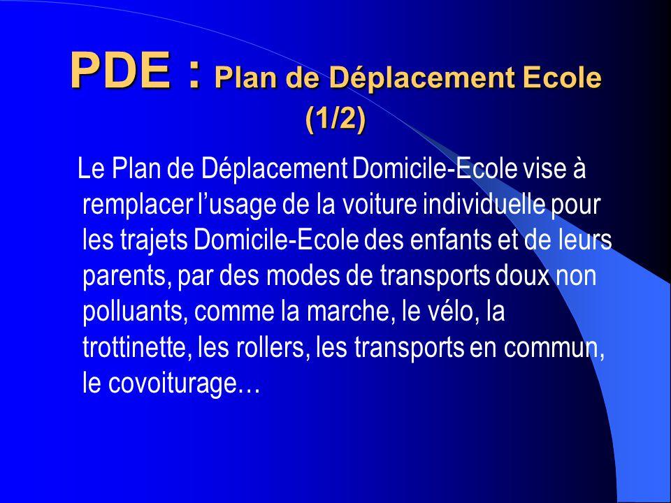 PDE : Plan de Déplacement Ecole (1/2)