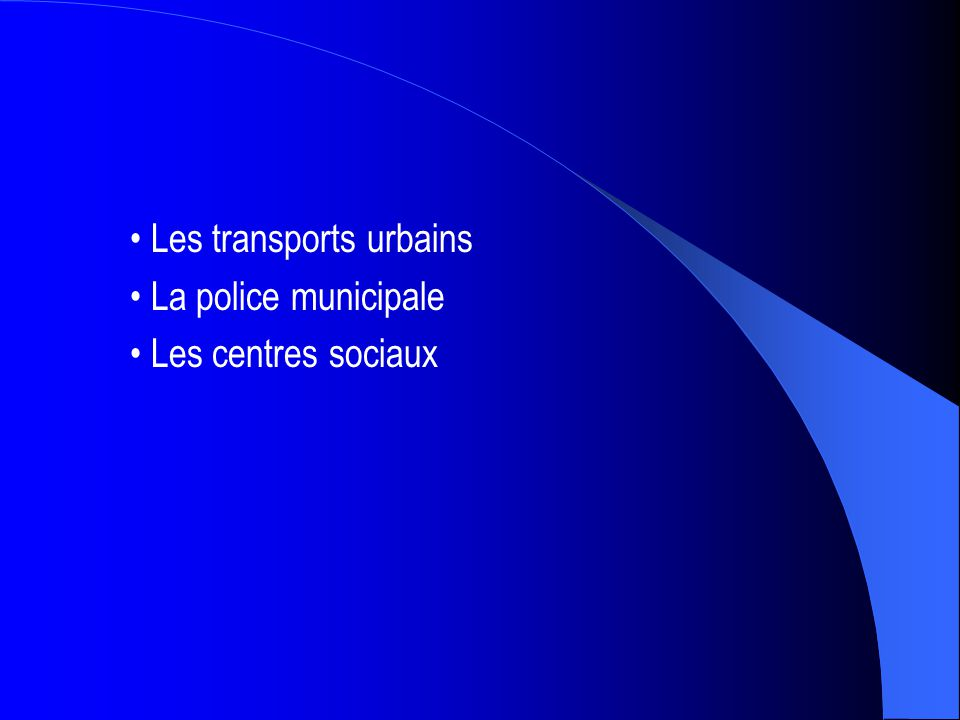 • Les transports urbains