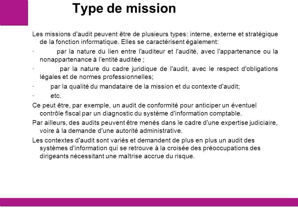 Type de mission