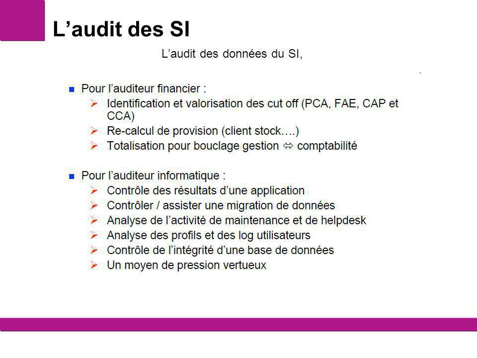 L'audit des données du SI,