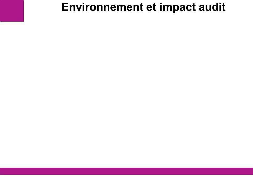 Environnement et impact audit