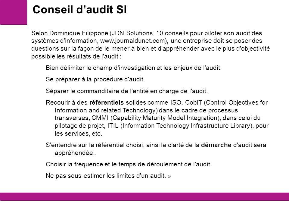 Conseil d'audit SI