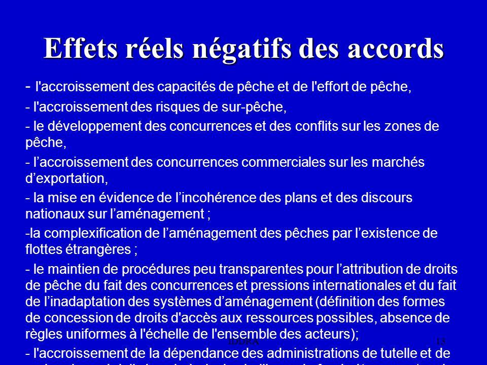 Effets réels négatifs des accords