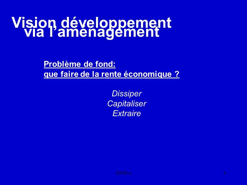 Vision développement via l'aménagement