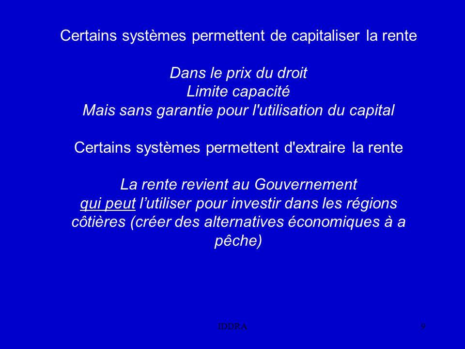 Certains systèmes permettent de capitaliser la rente