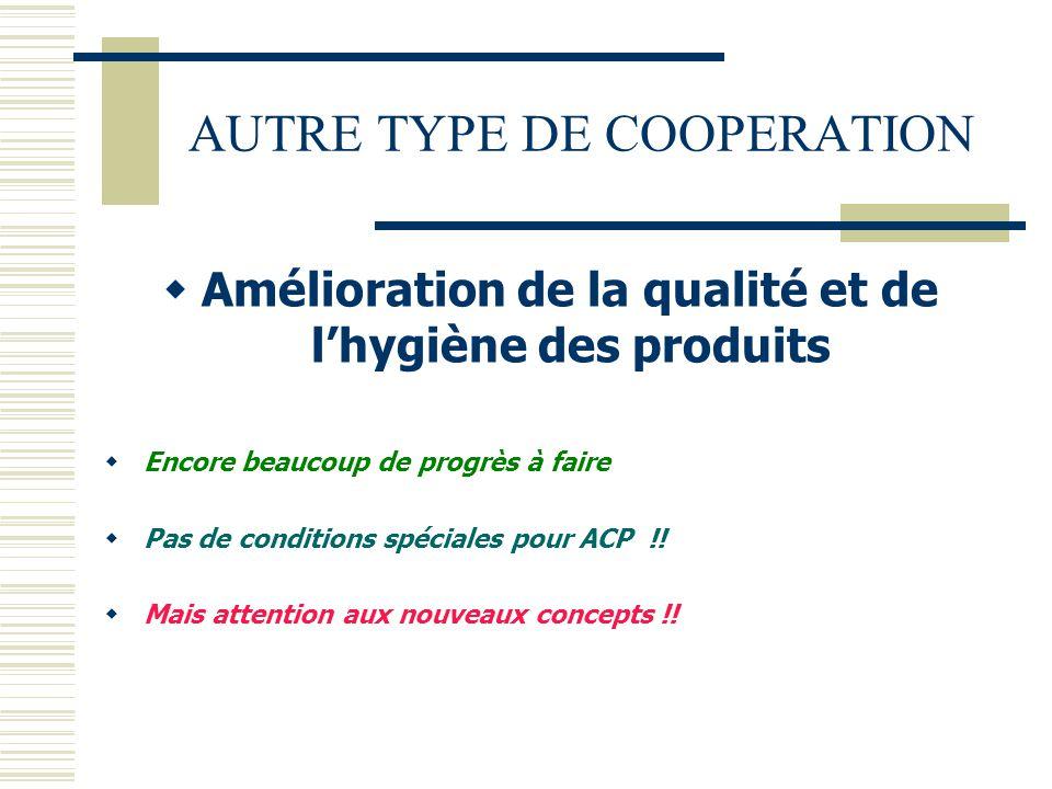 AUTRE TYPE DE COOPERATION