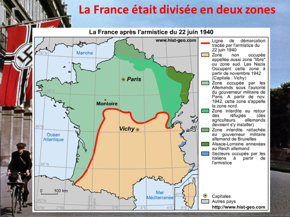 La France était divisée en deux zones