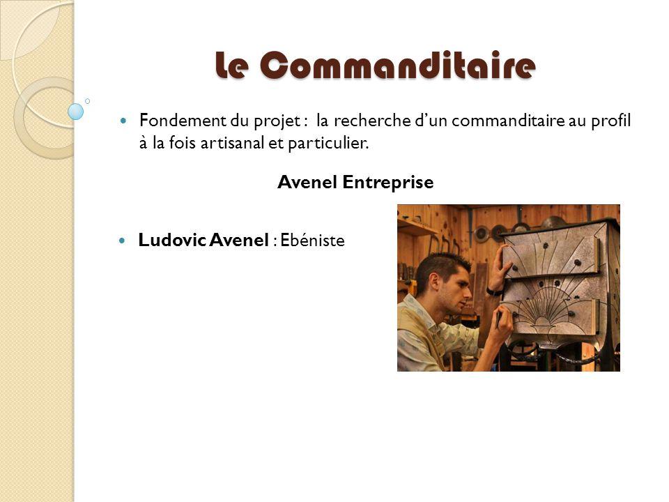 Le Commanditaire Fondement du projet : la recherche d'un commanditaire au profil à la fois artisanal et particulier.