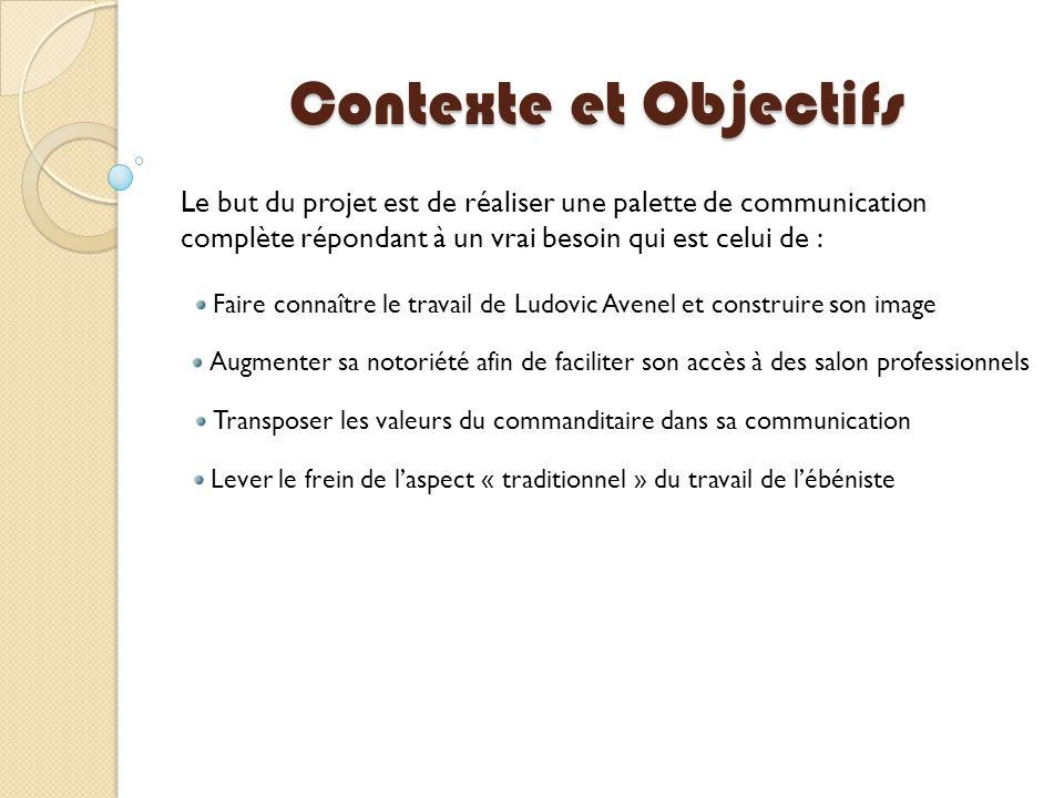 Contexte et Objectifs Le but du projet est de réaliser une palette de communication complète répondant à un vrai besoin qui est celui de :