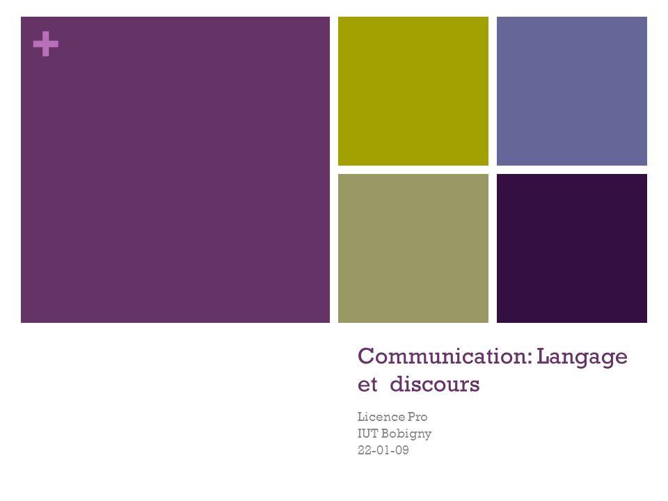 Communication: Langage et discours