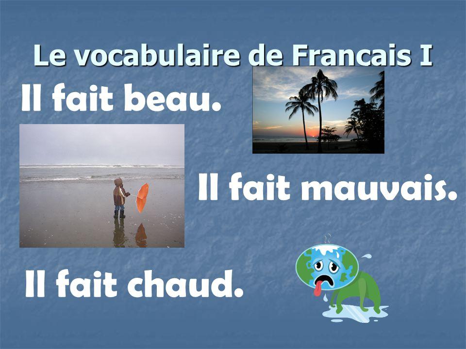 Le vocabulaire de Français I