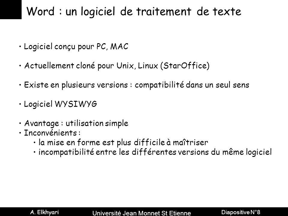 Word : un logiciel de traitement de texte