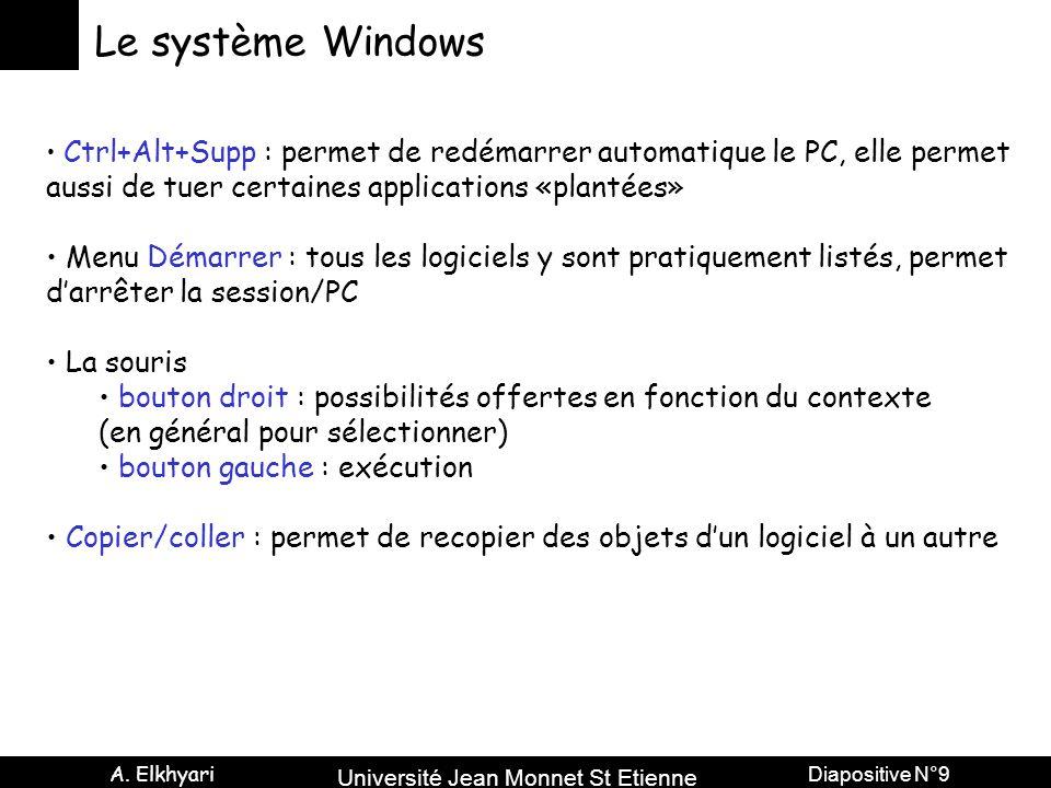 Le système Windows aussi de tuer certaines applications «plantées»