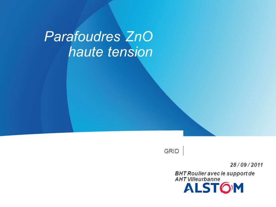 Parafoudres ZnO haute tension