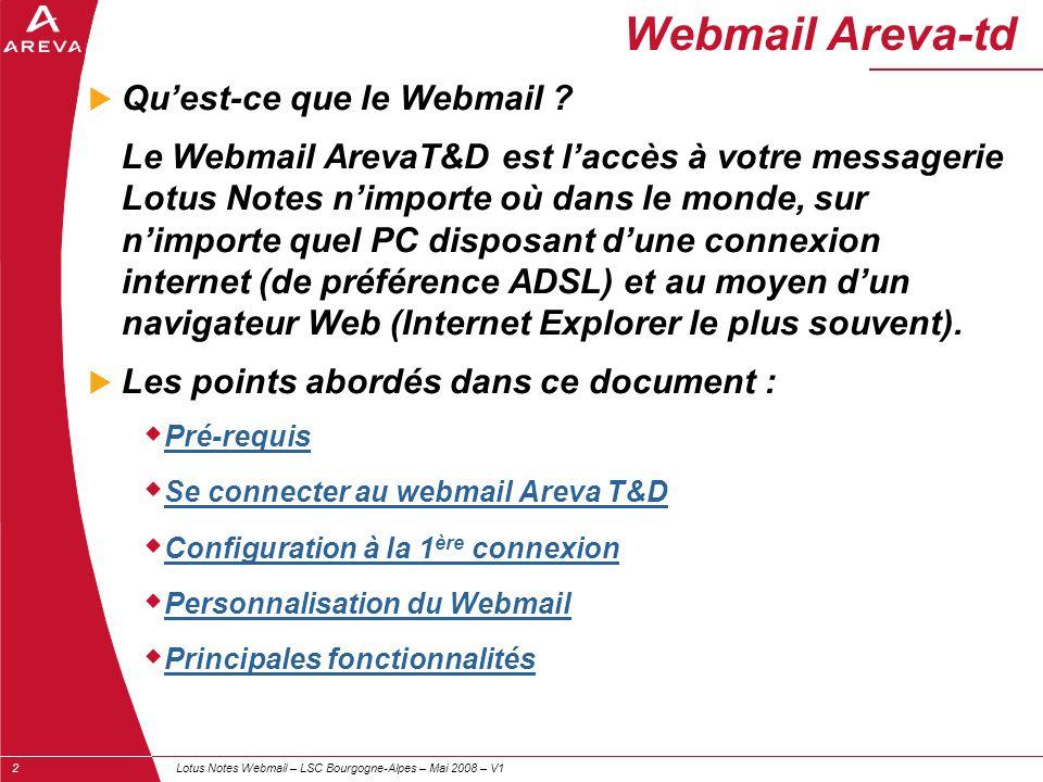 Webmail Areva-td Qu'est-ce que le Webmail