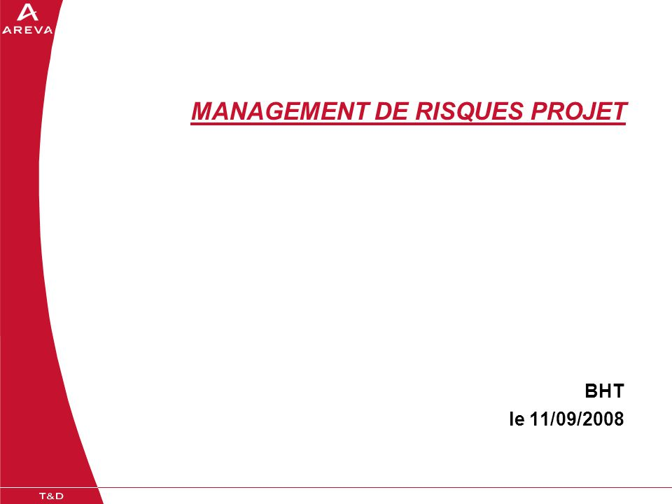 MANAGEMENT DE RISQUES PROJET