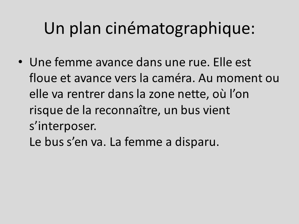 Un plan cinématographique: