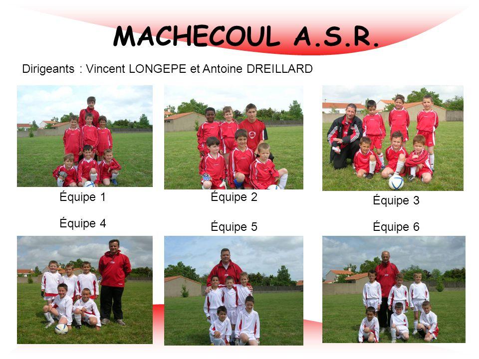 MACHECOUL A.S.R. Dirigeants : Vincent LONGEPE et Antoine DREILLARD