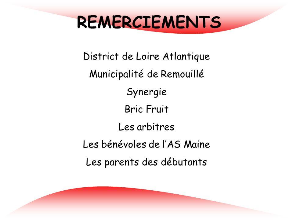 REMERCIEMENTS District de Loire Atlantique Municipalité de Remouillé