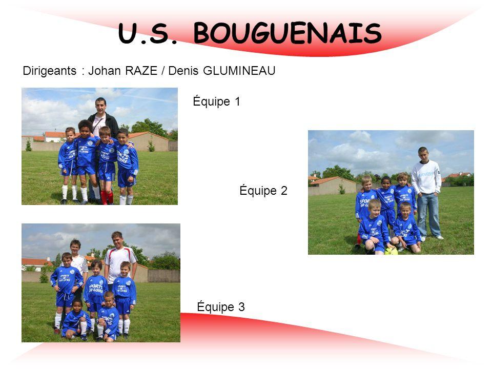 U.S. BOUGUENAIS Dirigeants : Johan RAZE / Denis GLUMINEAU Équipe 1