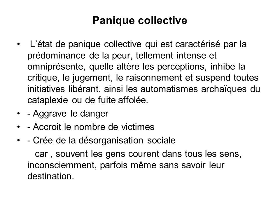Panique collective