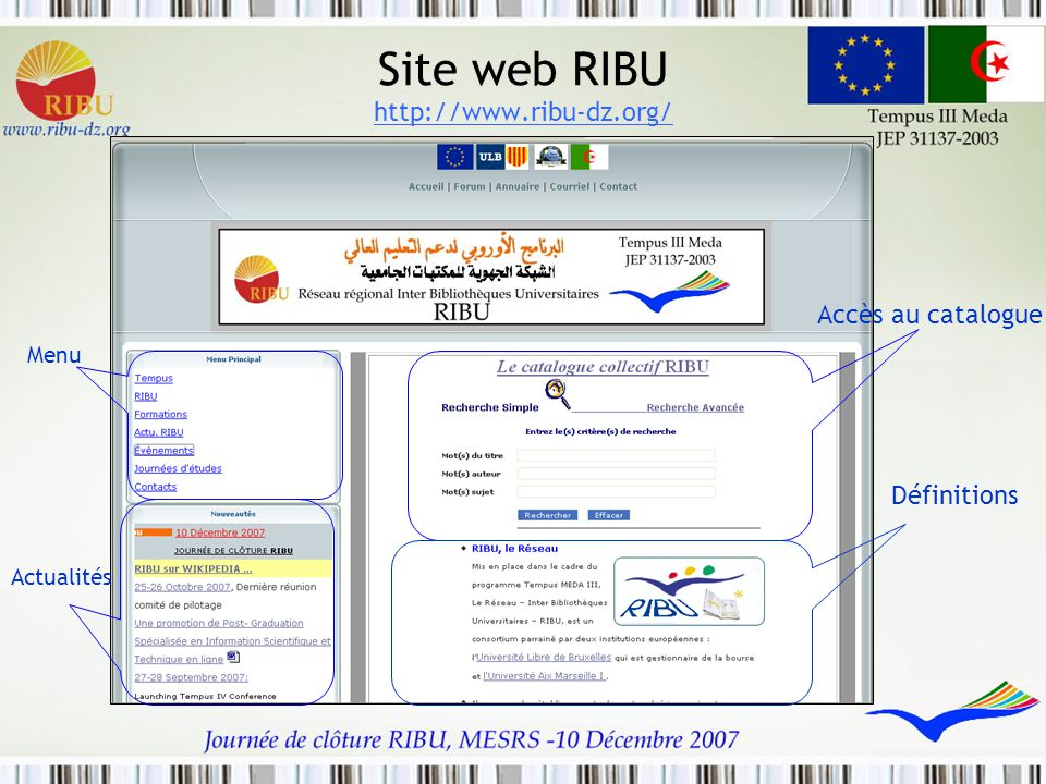 Site web RIBU http://www.ribu-dz.org/