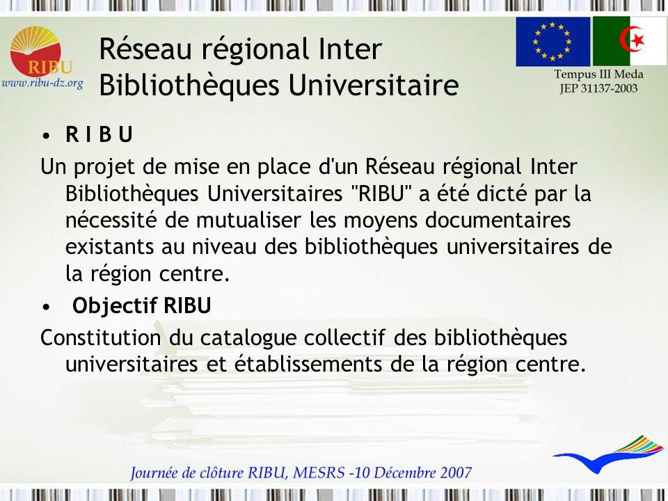 Réseau régional Inter Bibliothèques Universitaire