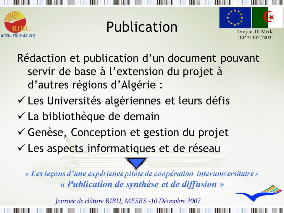 « Publication de synthèse et de diffusion »