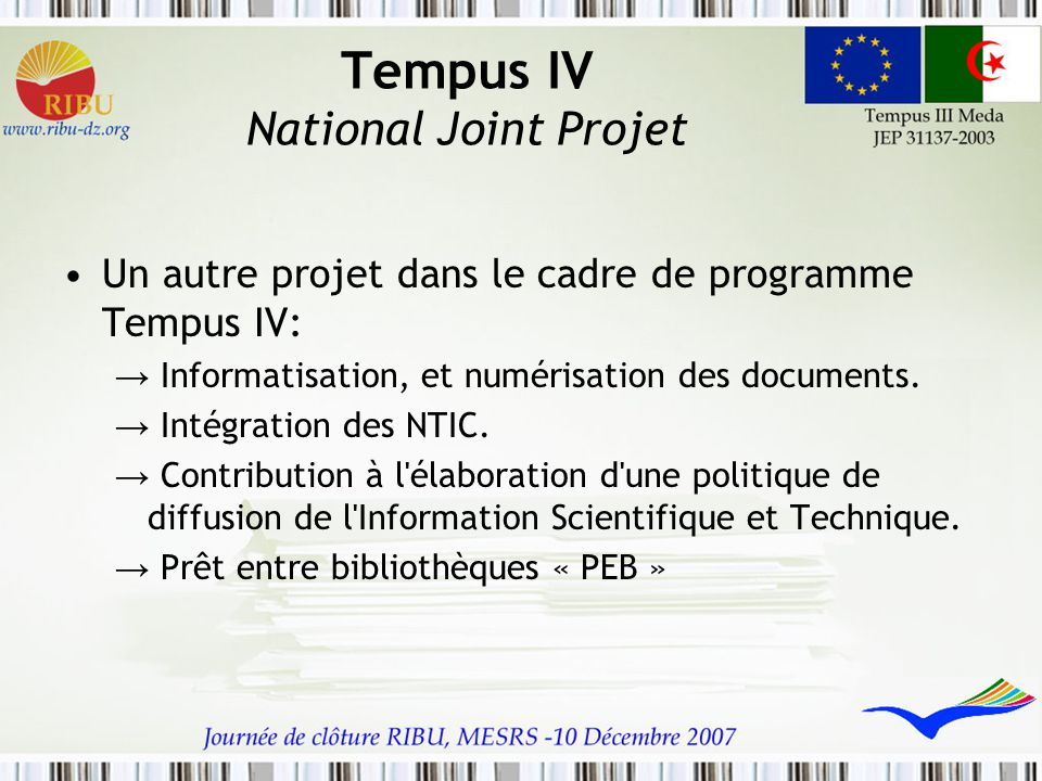 Tempus IV National Joint Projet