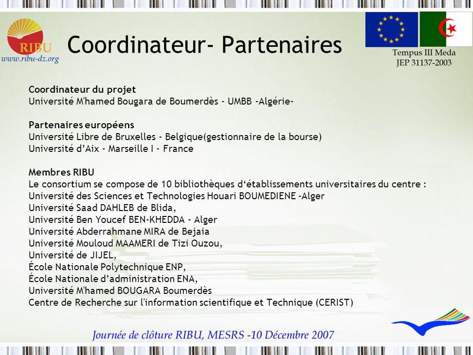 Coordinateur- Partenaires