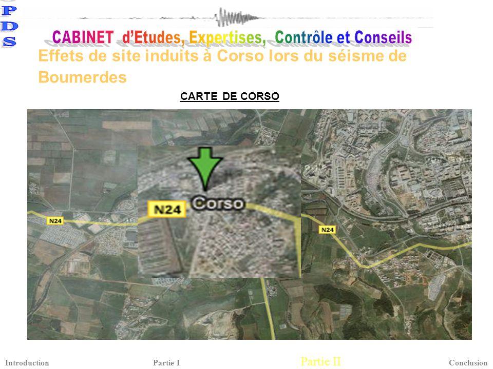 Effets de site induits à Corso lors du séisme de Boumerdes