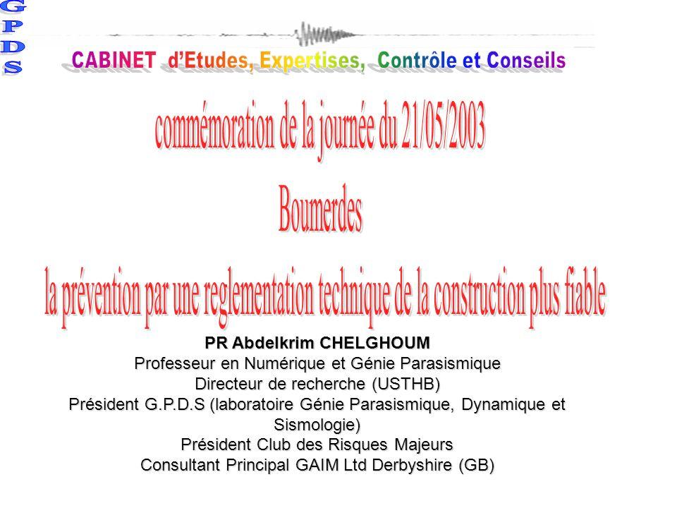 commémoration de la journée du 21/05/2003 Boumerdes