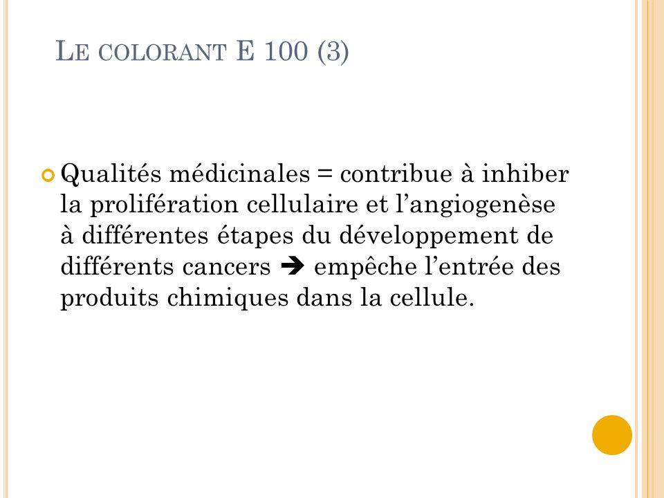 Le colorant E 100 (3)