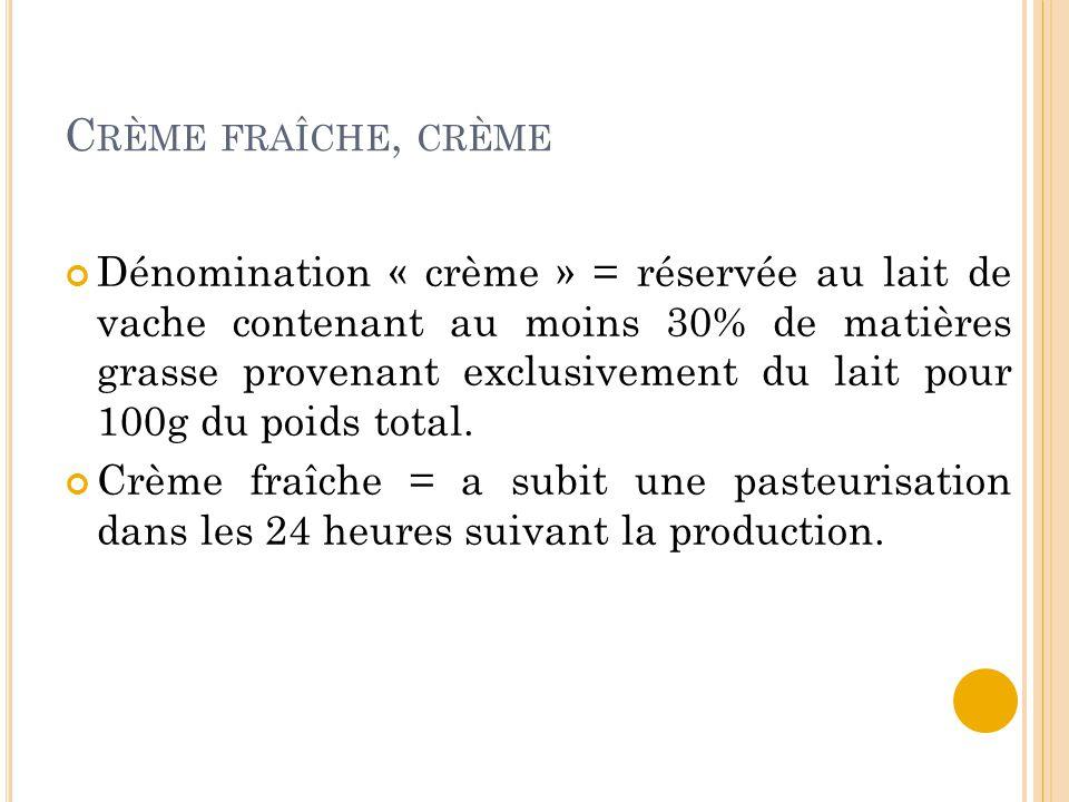 Crème fraîche, crème