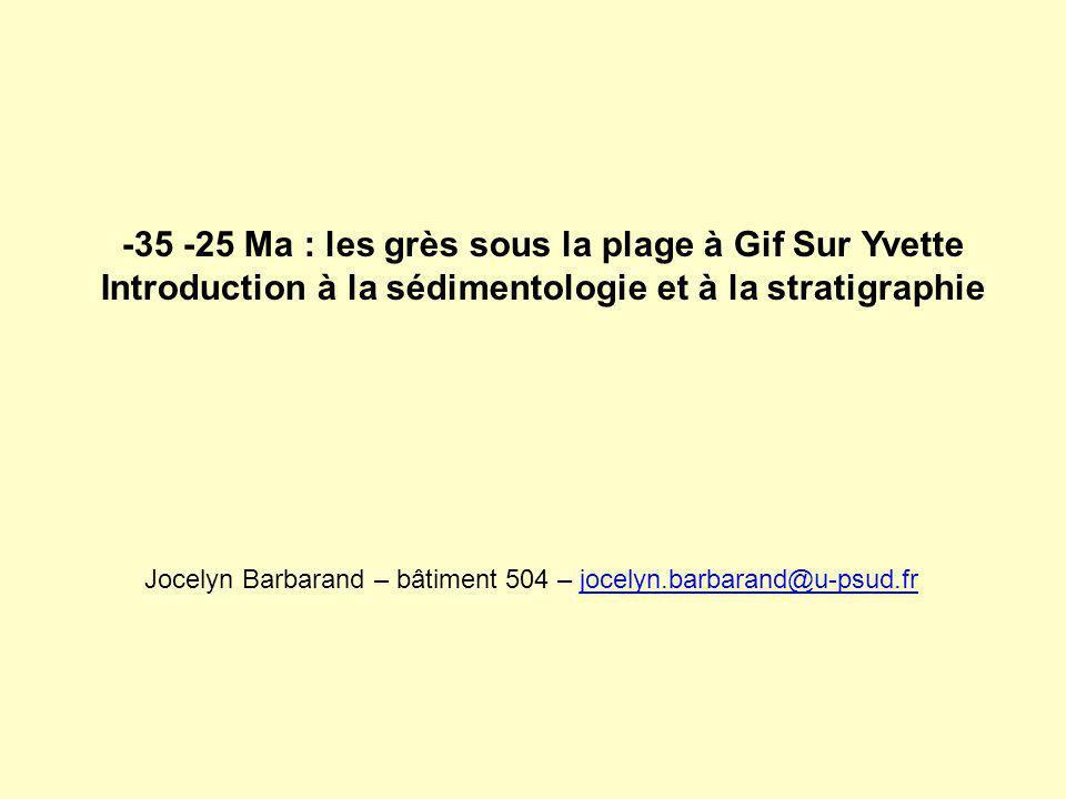 -35 -25 Ma : les grès sous la plage à Gif Sur Yvette