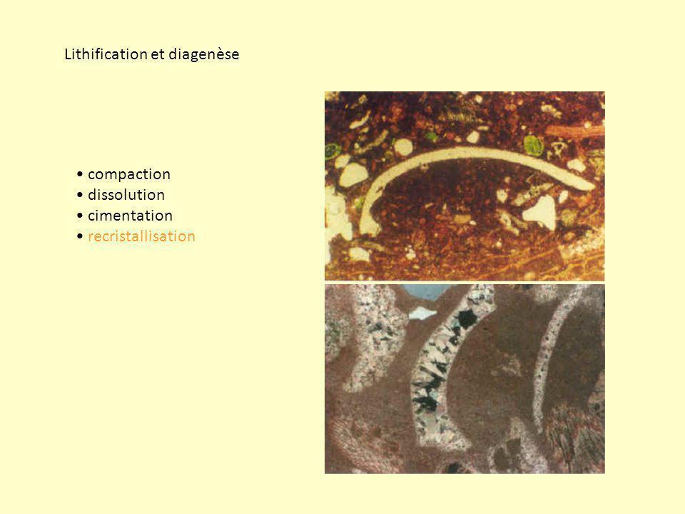 Lithification et diagenèse
